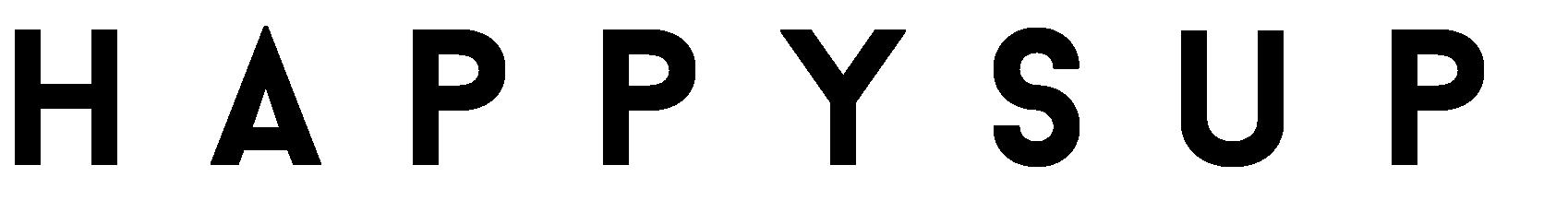 HappySUP Logo - Schwarz - Freigestellt